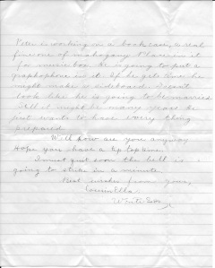 Letter from Ella to Cousin Christina, Jan 25, 1912 p2