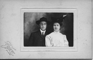 Knute Strand and his sister, Anna